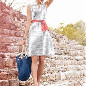 Garnet Hill Sleeveless Cotton Shirtdress